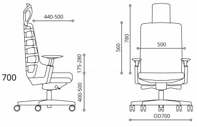 ergonomski pisarniski stoli ergovision iflex dimension