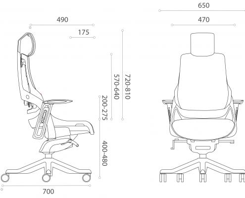 ergonomski pisarniski stoli ergovision itrek dimension