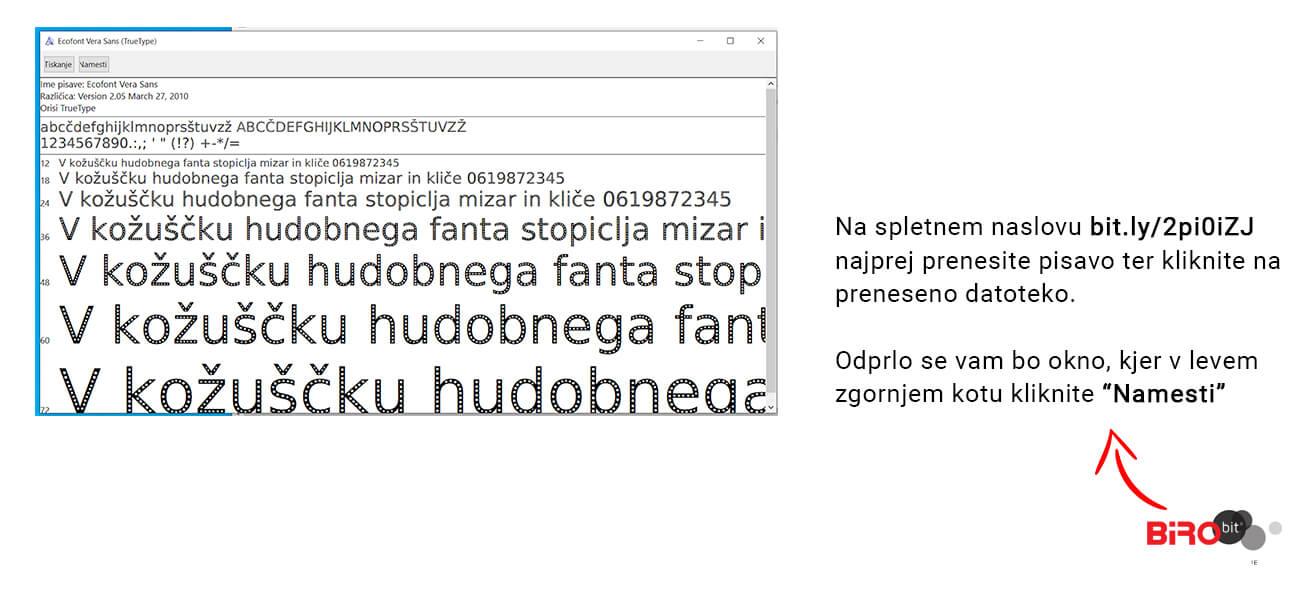 Eko font Birobit